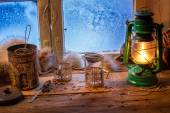 Cottage on a frozen day in winter — Stock Photo