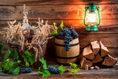 Cellar full of ingredients for homemade wine — Stock Photo