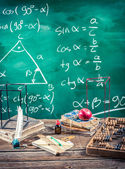 Lecture of trigonometry in school — Stock Photo