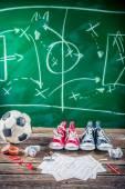 Planejamento ganhar a partida de futebol — Fotografia Stock