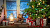 Christmas holiday in the countryside — Stock Photo