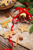 Gingerbread cookies as a gift for Christmas — Stock Photo