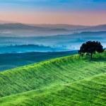 Sunrise of dreamland in Tuscany — Stock Photo #57340207
