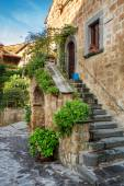 Beautiful porch in the old town in Italy — Stock Photo