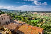 View of the vintage city in Tuscany, Italy — Stock Photo