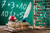 Mathematics classes in primary school — Stock Photo