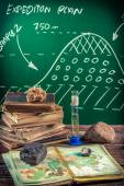 Natural resources of the earth at a geography lesson — Stock Photo