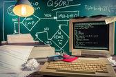 Beginnings of computer languages in schools — Stockfoto