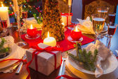 It is time for Christmas dinner — Stock Photo