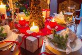 Het is tijd voor kerstdiner — Stockfoto