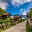 Small alley in the alpine village — Stock Photo #59240641