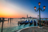 Sunrise over the Grand Canal in Venice — Stock Photo