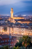 Night view of Florence, Italy — Stock Photo