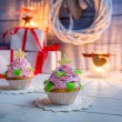 Enjoy your christmas cupcake — Stock Photo #60300411