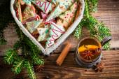 Warming Christmas sweet tea — Stock Photo