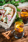 Christmas hot sweet tea — Stock Photo