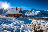 Enjoy your accommodation in winter mountains — Stock Photo