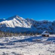 Mountain panorama in the high mountains in winter — Stock Photo #62120025