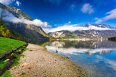 Mountains reflected in lake — Stock Photo