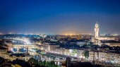 Night over the Florence, Italy — Stockfoto