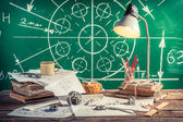 Laboratory technical drawing at school — Stock Photo