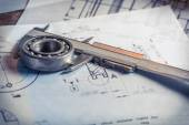 Verification the mechanical parts of the diagram — Stock Photo