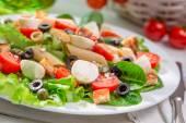 Enjoy your spring salad — Stockfoto
