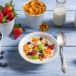 Ingredients for a healthy and tasty breakfast — Stock Photo #64203299