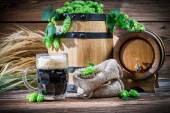 Preparing for home beer brewing — Stock Photo