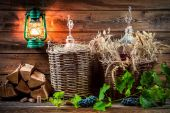 Ingredients for homemade red wine — Stock Photo