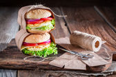 Tasty burge — Stock Photo