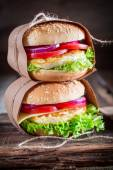 Homemade burge — Stock Photo