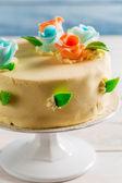 Closeup of Birthday cake — Stock Photo
