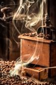 Fragrance of fresh coffee seeds — Stock Photo