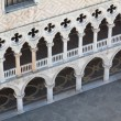 Facade of the Ducal Palace in Venice from above — Stock Photo #58317135