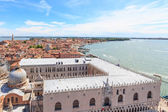 View over the ducal palace and the east of Venice — Stock Photo