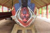 Maori head on a boat — Stock Photo