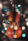 Cello with lights — Stock Photo