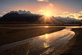Chilkat River Sunset — Foto Stock