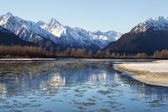 Chilkat River Freeze Up — Stock Photo