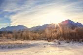 Chilkat Mountain Sunset — Stock Photo
