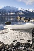 Beached Ice Chunks — Stock Photo