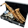 Saxophone with money — Stock Photo #64618005