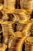Gold Coins Stack — Stock Photo