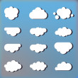 Clouds in the sky icons — Stock Vector #53686385