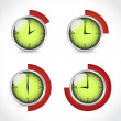 Clocks, timer set — Stock Vector #53686909