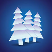 Christmas Theme with trees — Stock Vector