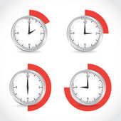 Clocks, timer set — Stock Vector