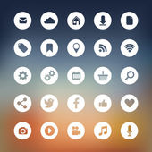 Modern Social media icons collection — Stock Vector