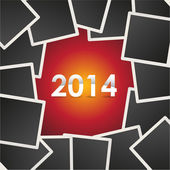2014 on background — Stockvector